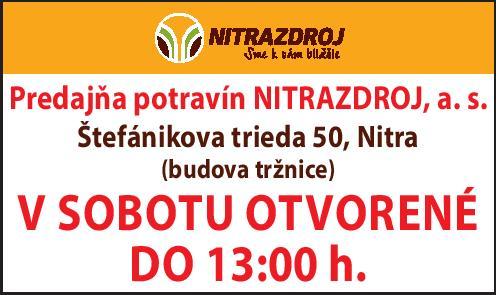 nitrazdroj - stefanikova otvaracie hodiny