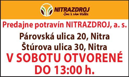 nitrazdroj - stefanikova a parovska